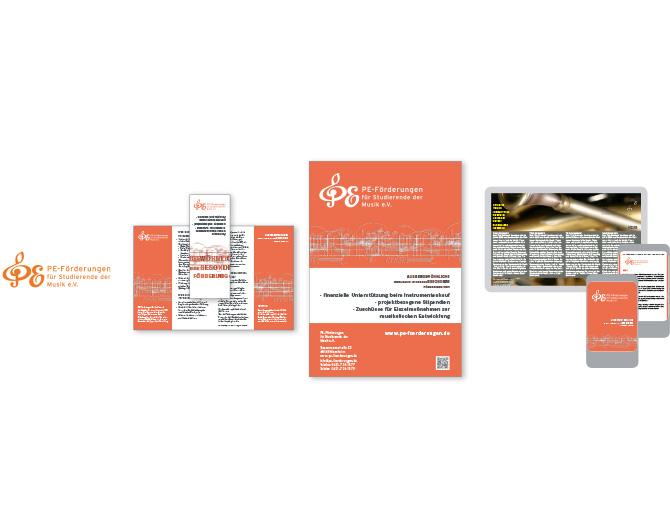 PE-Förderung für Studierende der Musik e. V. - Referenz von Anja Matzker, Grafikdesign, Printdesign, Corporate Design und Webdesign in Berlin