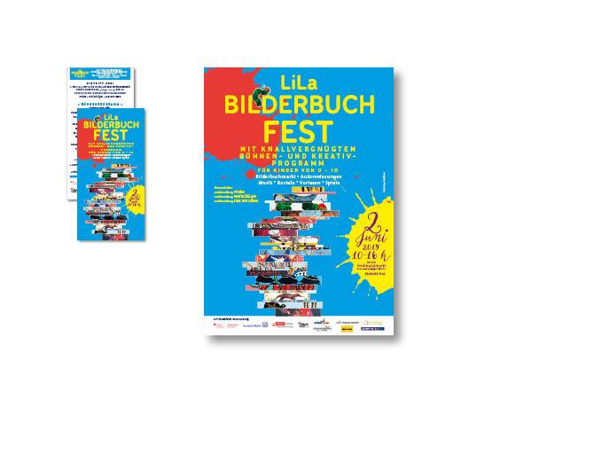 Lila Bilderbuchfest - Referenz von Anja Matzker, Grafikdesign, Printdesign, Corporate Design und Webdesign in Berlin
