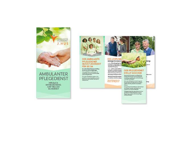 Pflegedienst Hus - Referenz von Anja Matzker, Grafikdesign, Printdesign, Corporate Design und Webdesign in Berlin