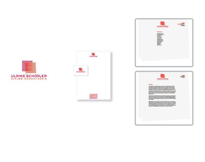 Ulrike Schößler Übersetzungen  - Referenz von Anja Matzker, Grafikdesign, Printdesign, Corporate Design und Webdesign in Berlin