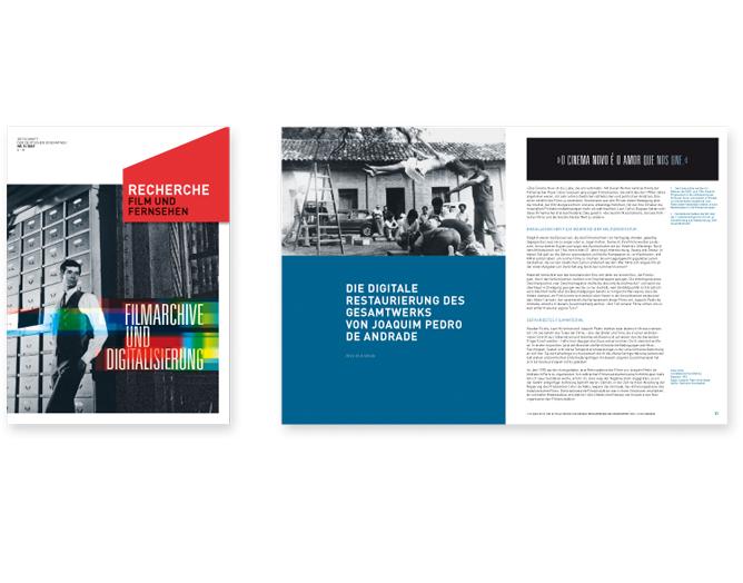Fachzeitschrift der Deutschen Kinemathek - Referenz von Anja Matzker, Grafikdesign, Printdesign, Corporate Design und Webdesign in Berlin