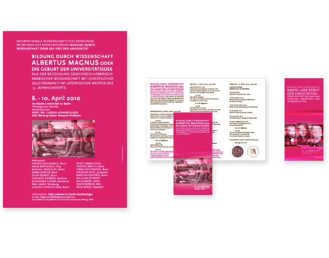 Humboldt Universität Berlin - Referenz von Anja Matzker, Grafikdesign, Printdesign, Corporate Design und Webdesign in Berlin