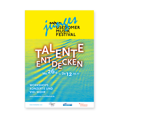 Junges Usedomer Musikfestival - Referenz von Anja Matzker, Grafikdesign, Printdesign, Corporate Design und Webdesign in Berlin