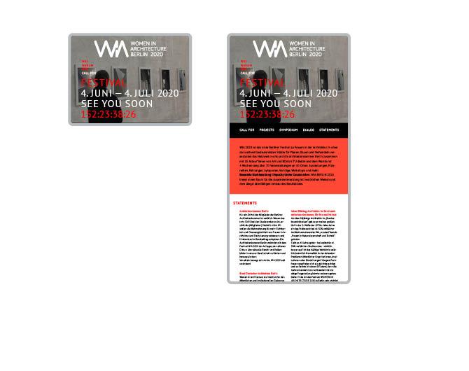 Women in Architecture - Referenz von Anja Matzker, Grafikdesign, Printdesign, Corporate Design und Webdesign in Berlin