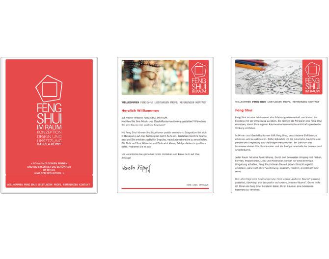 Feng Shui im Raum - Referenz von Anja Matzker, Grafikdesign, Printdesign, Corporate Design und Webdesign in Berlin