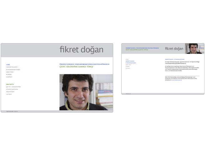 Fikret Dogan - Referenz von Anja Matzker, Grafikdesign, Printdesign, Corporate Design und Webdesign in Berlin