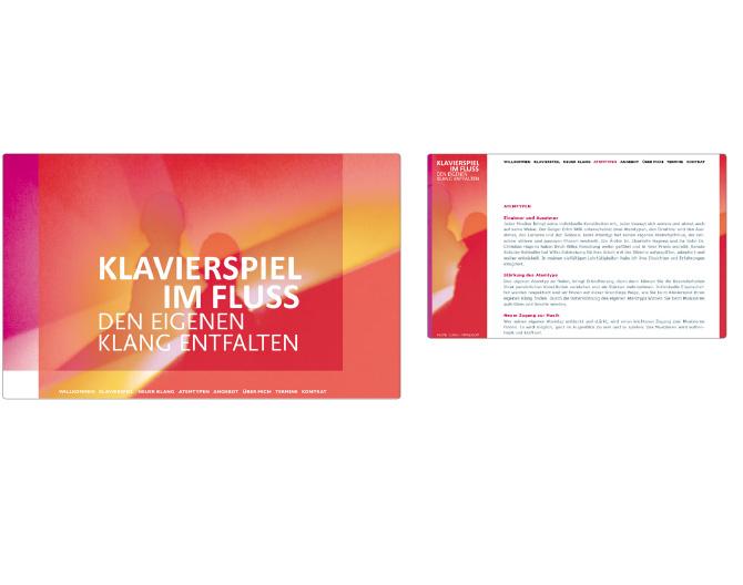 Klavierspiel im Fluss - Referenz von Anja Matzker, Grafikdesign, Printdesign, Corporate Design und Webdesign in Berlin
