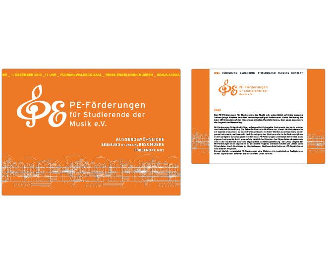 PE-Förderungen für Studierende der Musik - Referenz von Anja Matzker, Grafikdesign, Printdesign, Corporate Design und Webdesign in Berlin